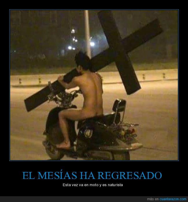 cruz,desnudo,mesías,moto