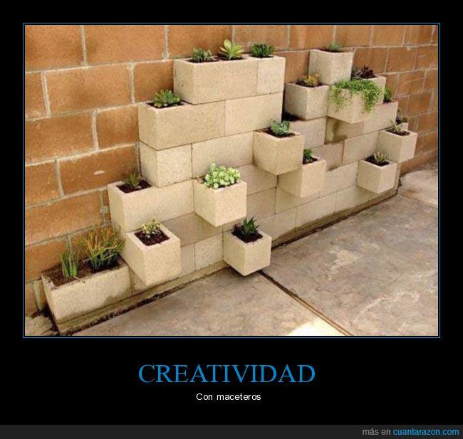 creativo,macetas,plantas