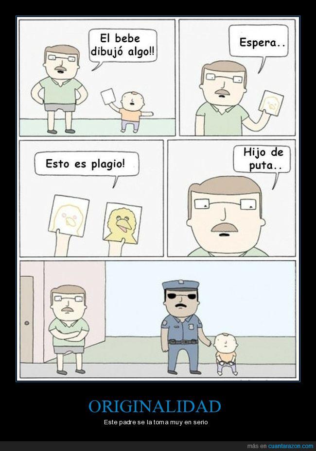 hijo,padre,plagio,policía