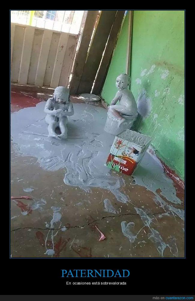 liada,niños,pintura