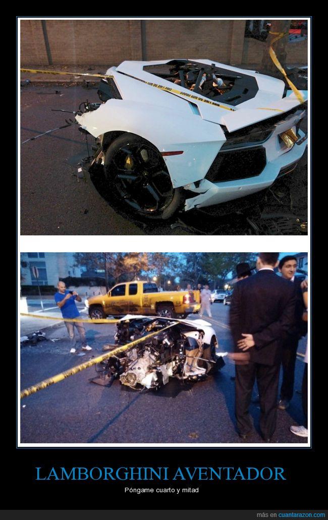 accidente,coche,lamborghini,mitad