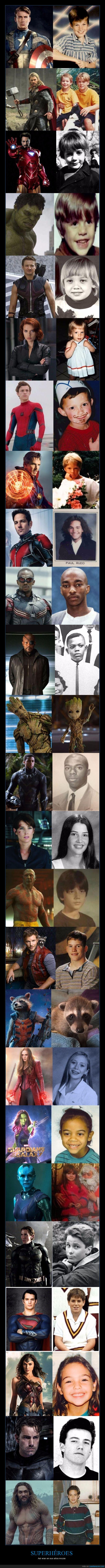 actores,niños,superhéroes