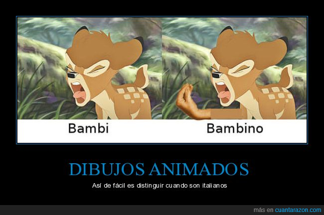 bambi,italiano,mano
