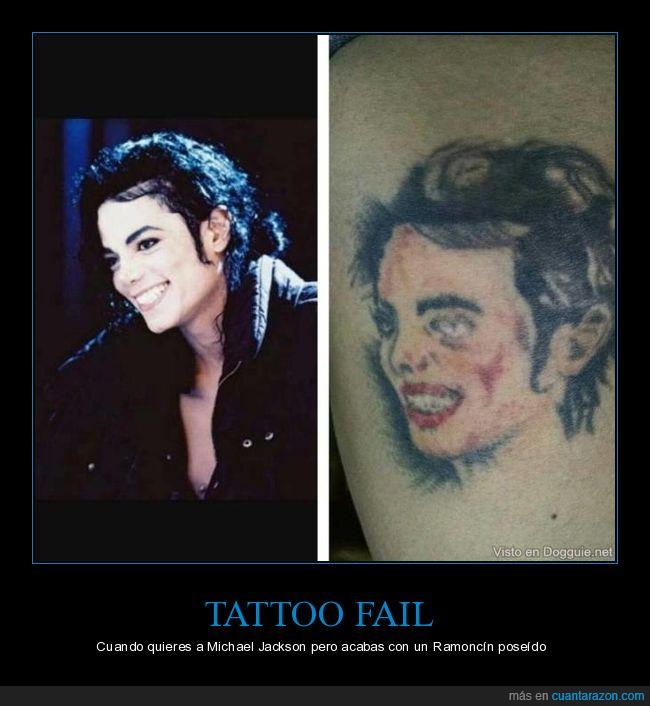 michael jackson,ramoncín,tatuaje