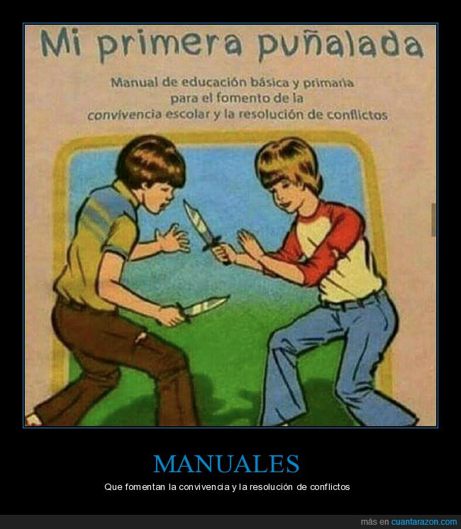 educación,manual,puñalada,resolución de conflictos