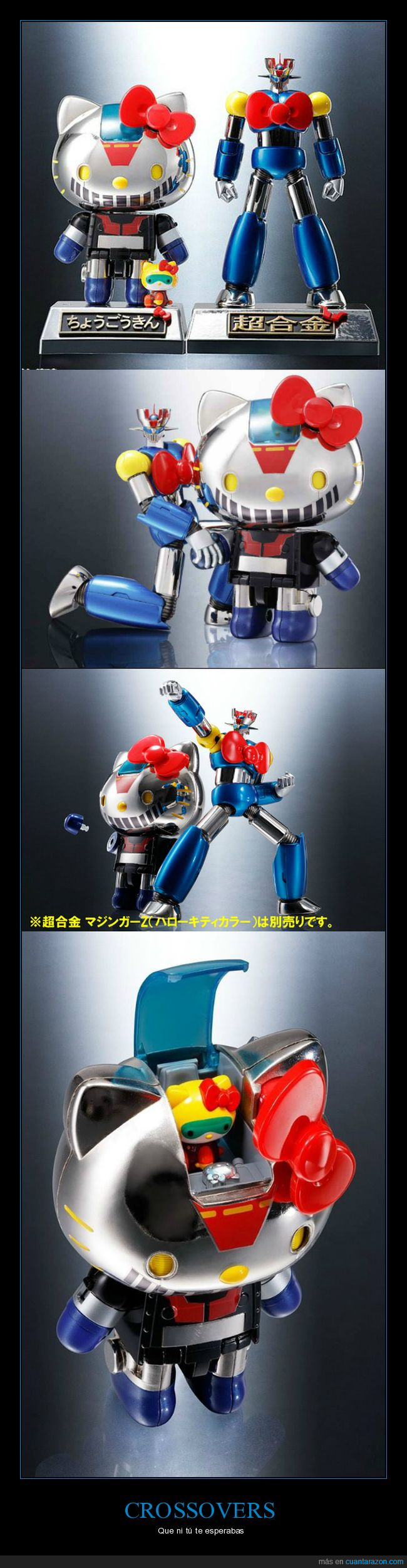 crossover,crossovers,figura,hello kitty,juguete,koki kabuto,mazinger,mazinger z,robot,soul of chogokin