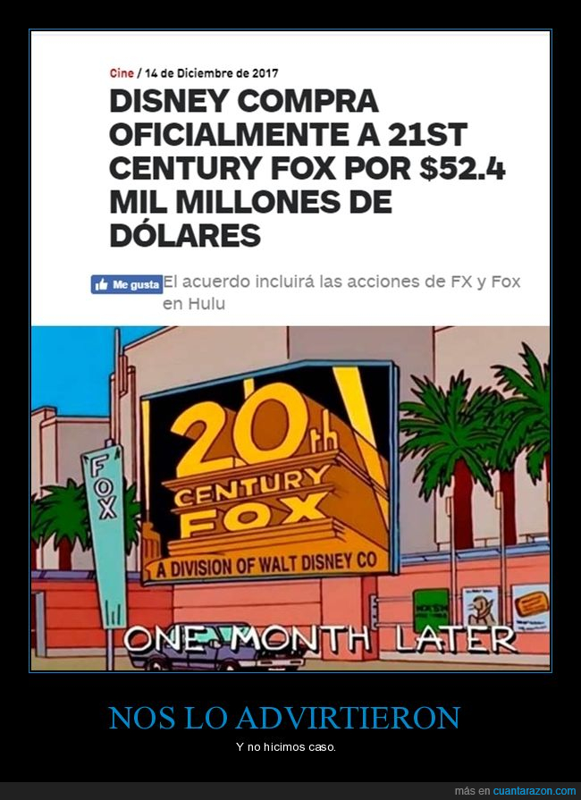 disney,fox,los simpsons,prediccion