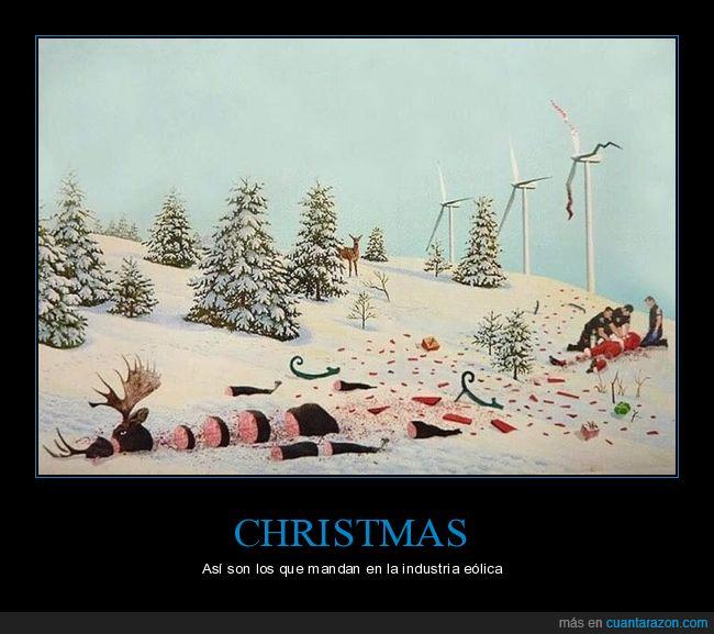 christmas,industria eólica,molino eólico,papá noel