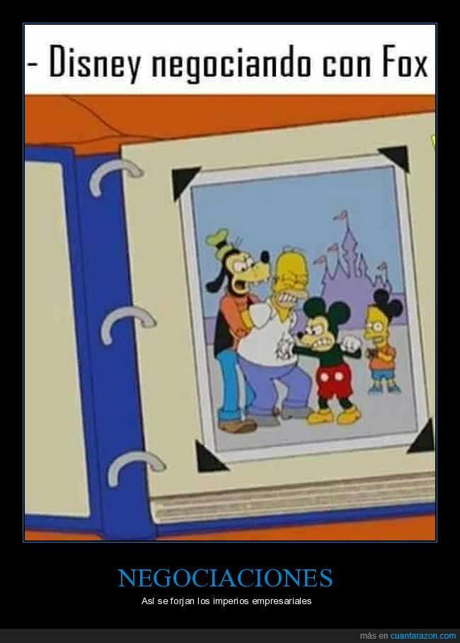 disney,fox,homer simpson,mickey mouse,negociando