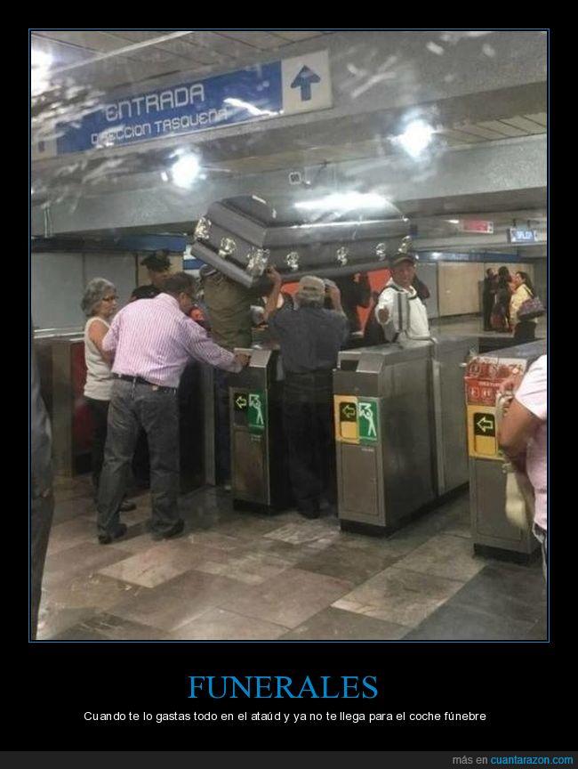 ataúd,funeral,metro