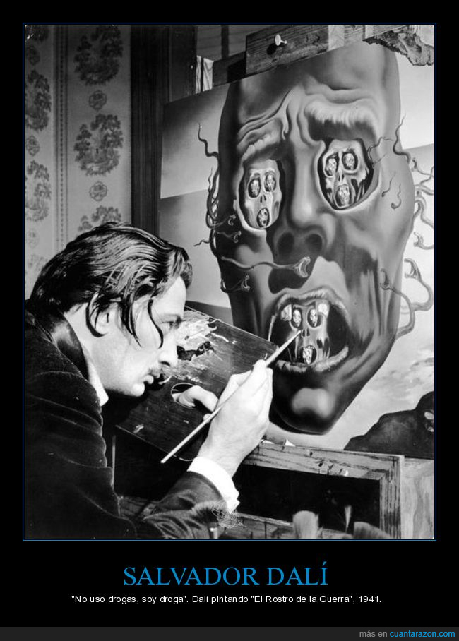 arte,dalí,el rostro de la guerra,pintando