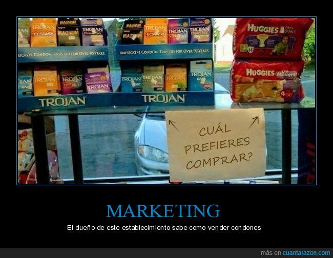 condones,marketing,pañales
