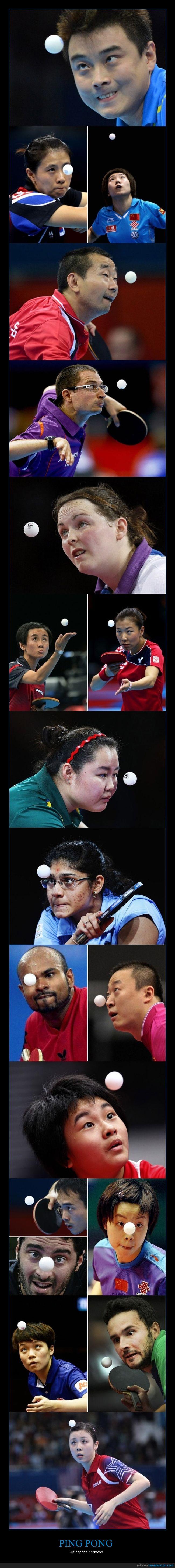 caras,momento exacto,ping pong