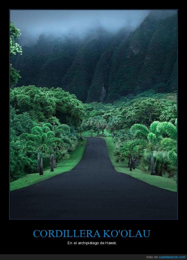 cordillera,hawái,paisaje