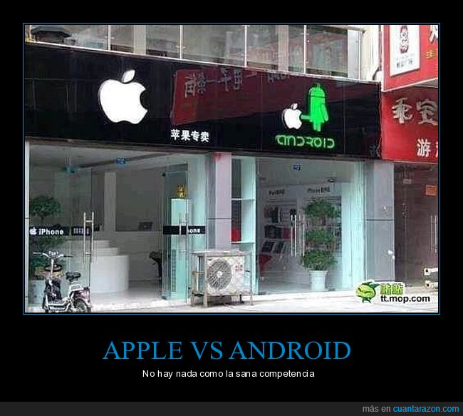 android,apple,competencia,tiendas