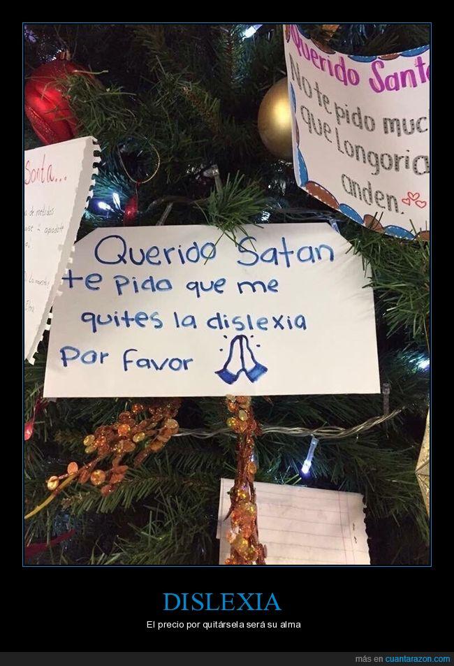 dislexia,papá noel,santa,satán