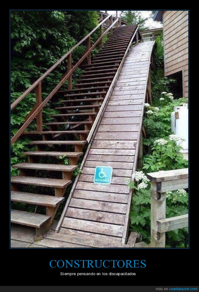 escaleras,fail,minusválidos,rampa