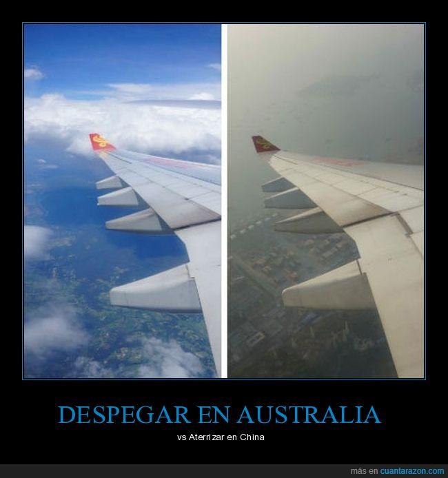 australia,avión,china,contaminación