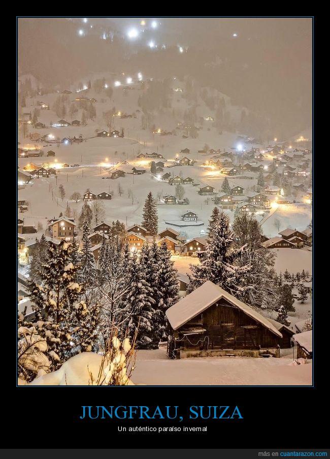 invierno,junfrau,paisaje,suiza