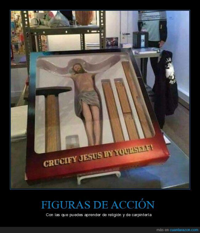 crucificar,jesús,muñeco