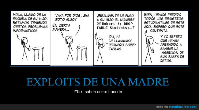 español,exploits,hack,historieta,madre,madrehack,programador,sqlchistes