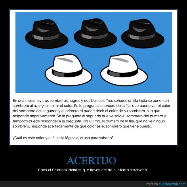 acertijo,sombreros