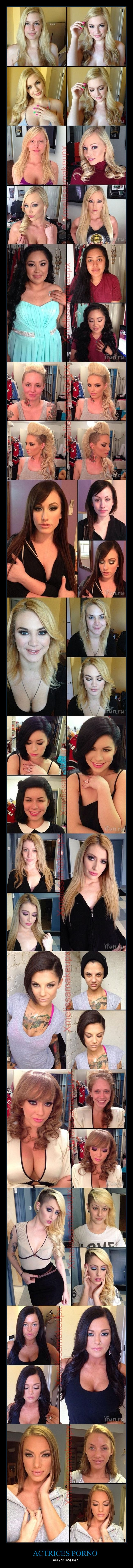 actrices,chicas,diferencias,maquillaje