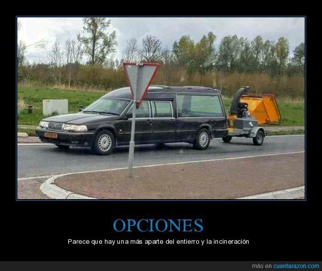 coche fúnebre,trituradora