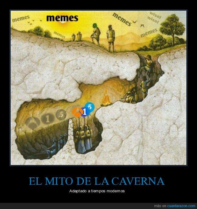 el mito de la caverna,memes,platón,televisión