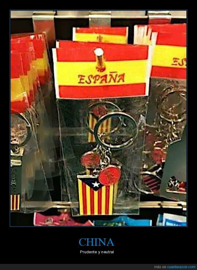 cataluña,chinos,españa,senyera