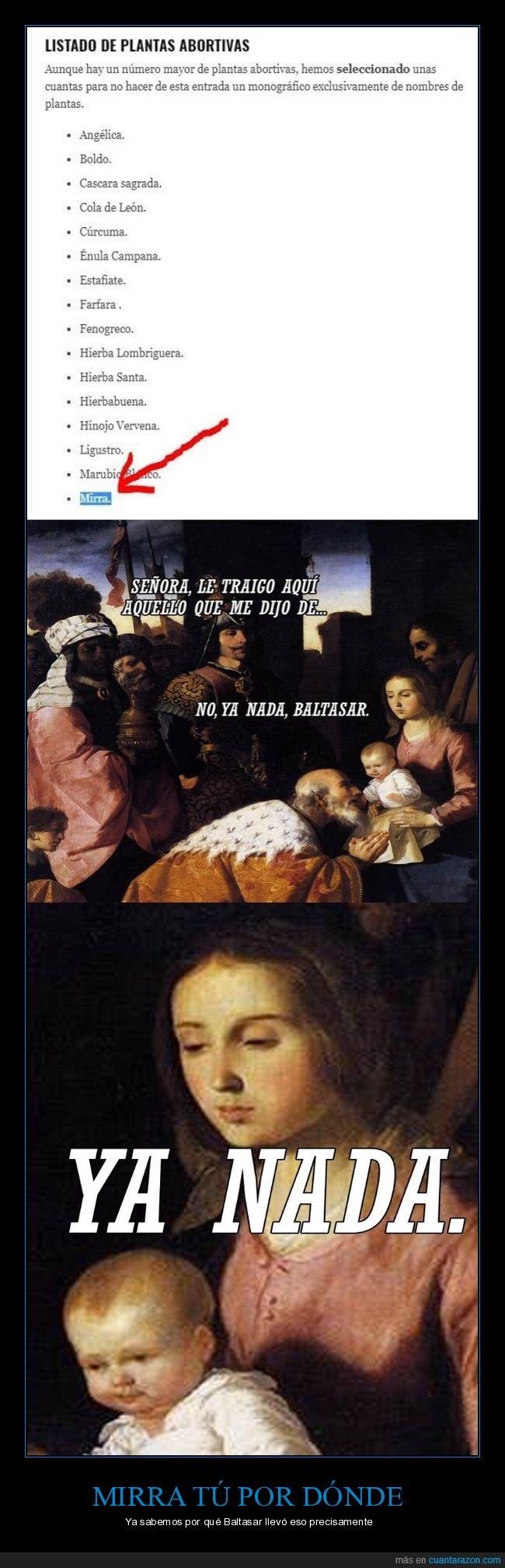 baltasar,jesús,maría,mirra,plantas abortivas