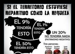 Enlace a Si España estuviera repartida como la riqueza...