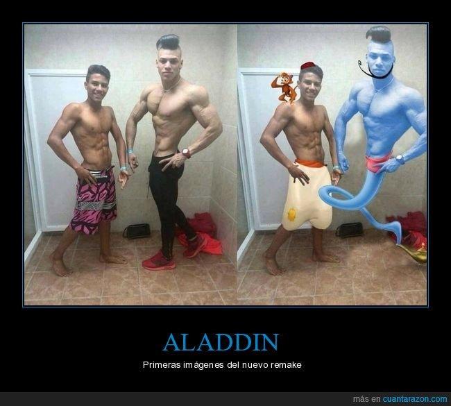aladdin,genio,photoshop