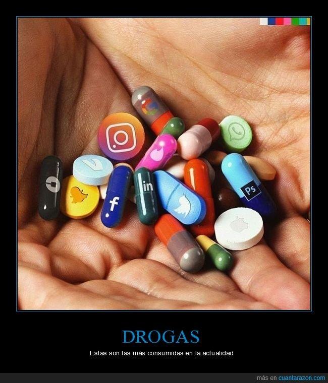 drogas,pastillas,redes sociales