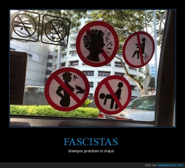 carteles,prohibiciones