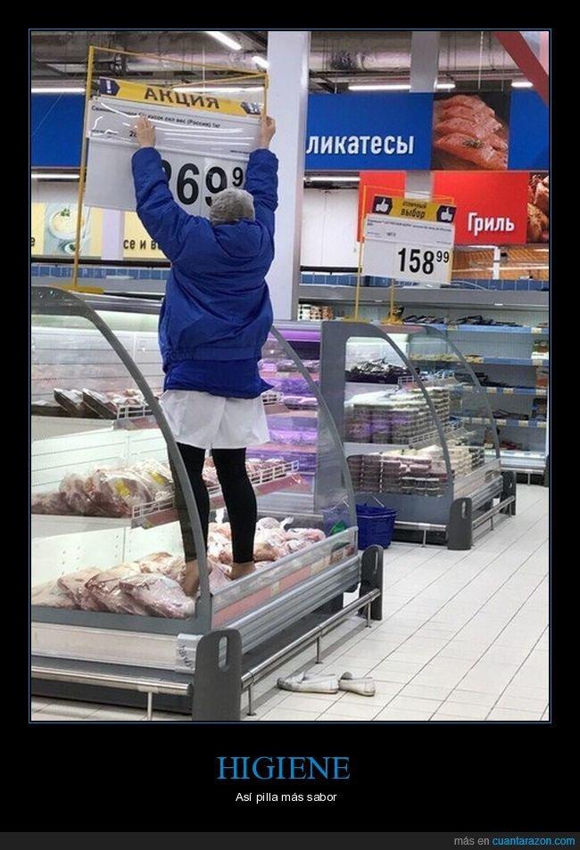 comida,pies,supermercado