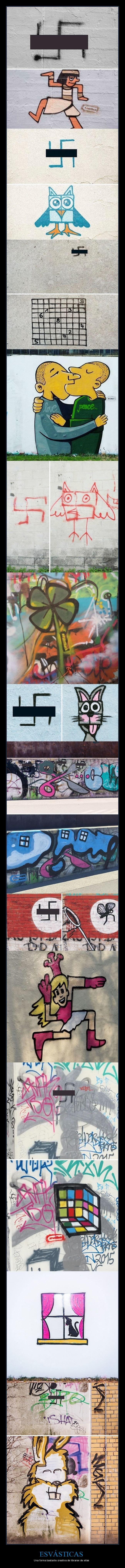 esvásticas,graffitis
