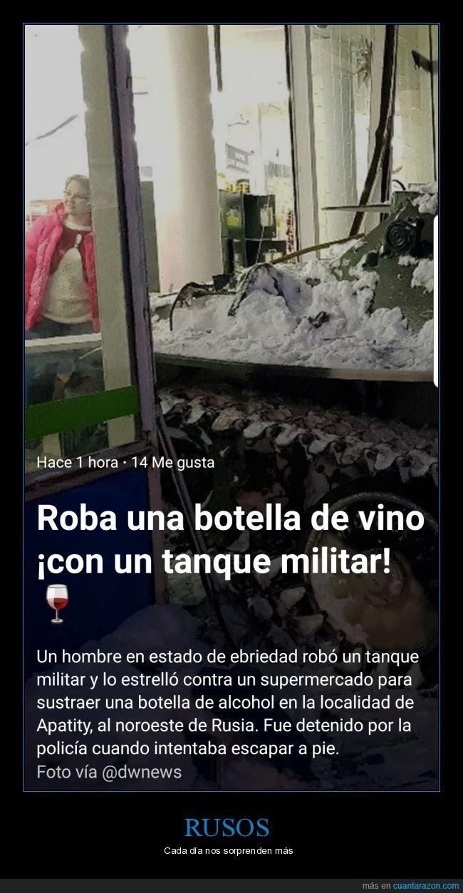 botella,ebrio,Rusia,tanque
