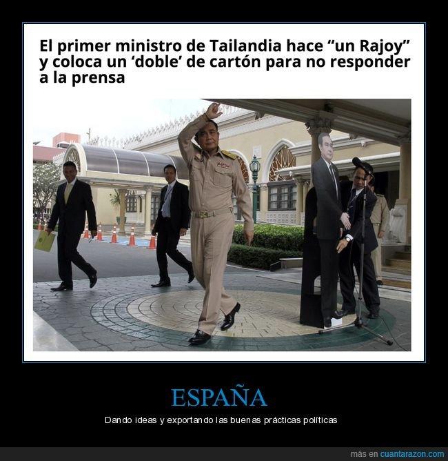 figura de cartón,políticos,primer ministro,rajoy,tailandia