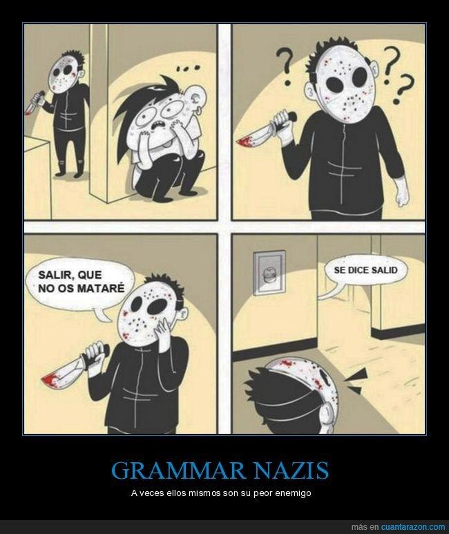 asesino,corregir,grammar nazi