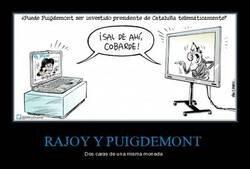 Enlace a Rajoy y Puigdemont, Puigdemont y Rajoy