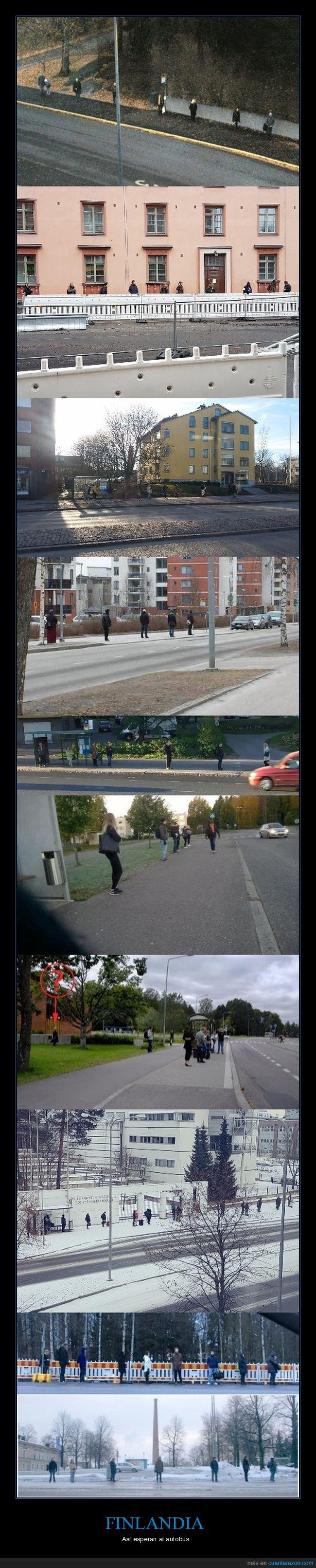autobús,esperar,finlandia