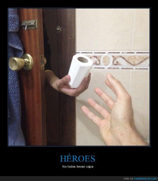 héroe,papel higiénico