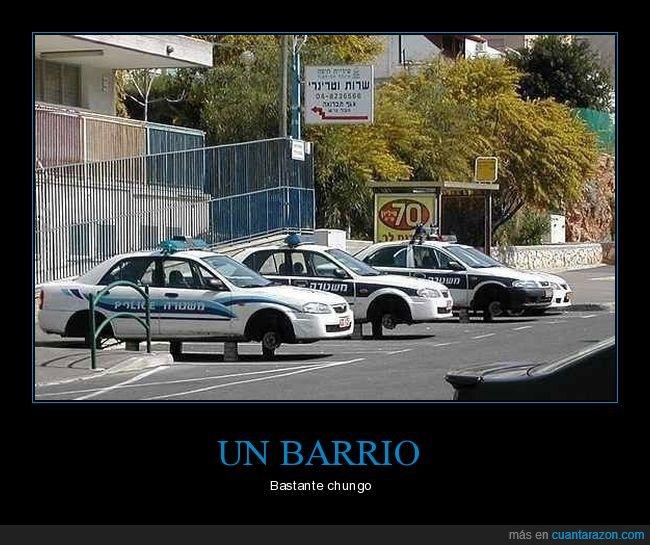coches de policía,robo,ruedas