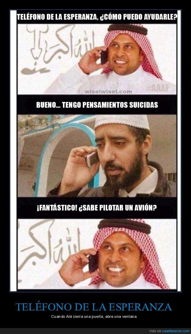 avión,musulmanes,pilotar,suicidio,telefono de la esperanza