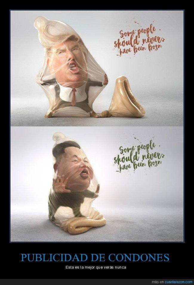 condones,donald trump,kim jong un,políticos,publicidad