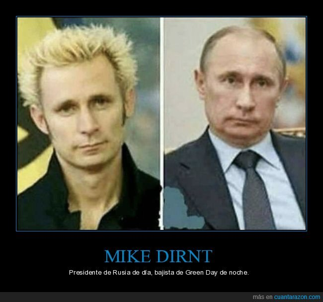 green day,mike dirnt,parecidos,putin