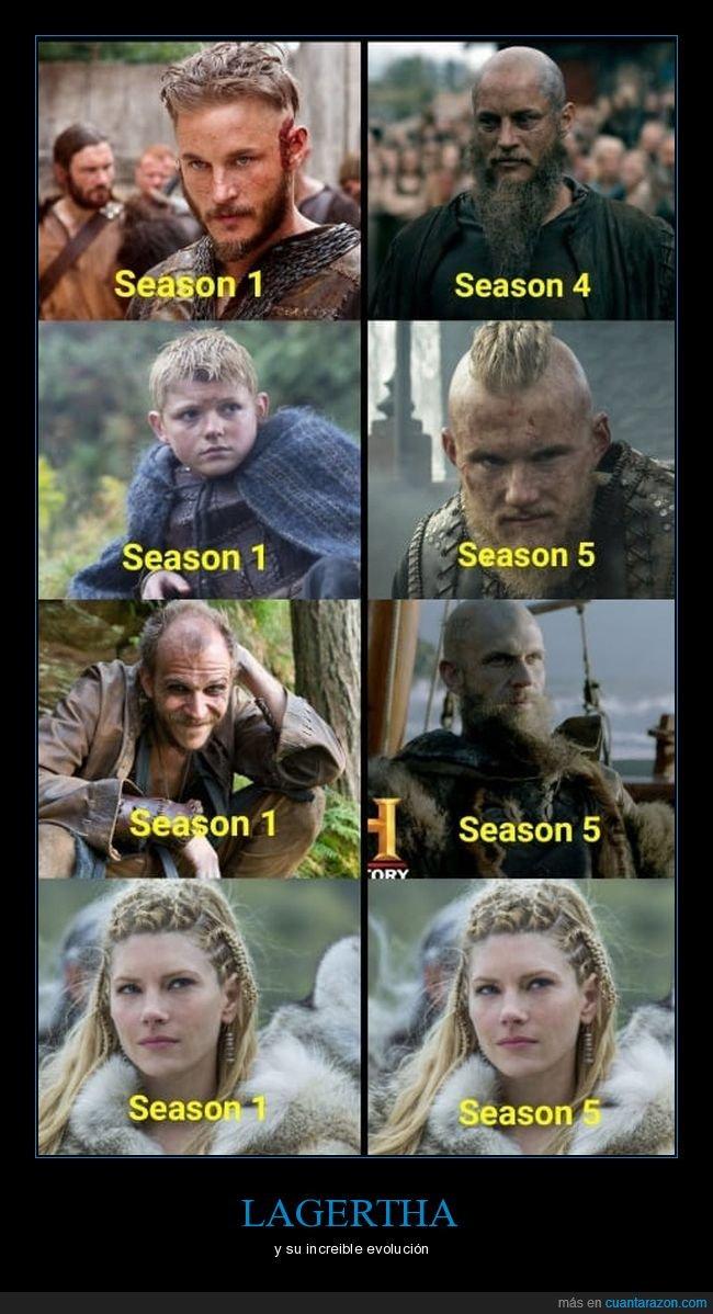 evolución,lagertha,temporadas,vikings