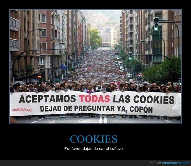 cookies,manifestación,preguntar