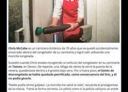 Enlace a Un carnicero atrapado en su congelador salva su vida gracias a una morcilla